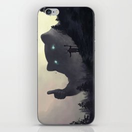 yo bro is it safe down there in the woods? yeah man it's cool iPhone Skin