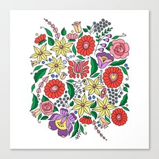 Hungarian embroidery motifs Canvas Print