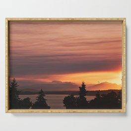 Smoky Sunset Serving Tray