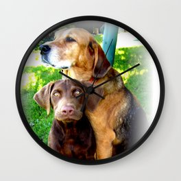 Ain't Nothing But A Hound Dog Wall Clock