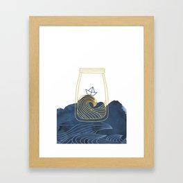 Bottled Sea Framed Art Print