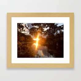 Mystic River Mindfulness Framed Art Print