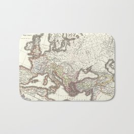 Vintage Map of The Roman Empire (1865) Bath Mat