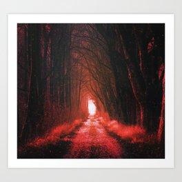 Apocalypse Surreal Forest Art Print