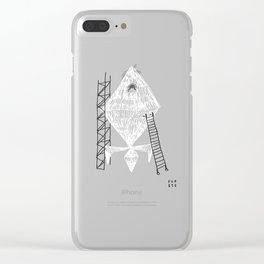A Machine Designed To Fly In Outer Space Clear iPhone Case