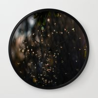bugs Wall Clocks featuring Bugs by Dora Birgis