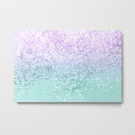 Mermaid Girls Glitter #1a (2019 Pastel Version) #shiny #decor #art #society6 Metal Print