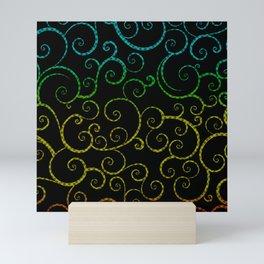 Rainbow Swirls Pop Art Mini Art Print