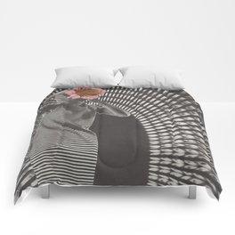 Forced Zones Comforters