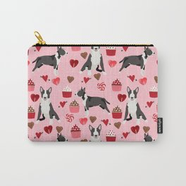 Bull Terrier valentines day love cupcakes hears dog breed pet friendly gifts Carry-All Pouch