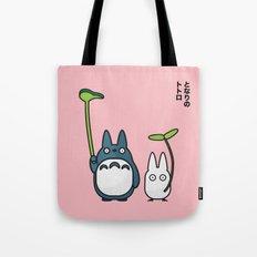 Chu & Chibi Totoro Pop art - Pink Version Tote Bag