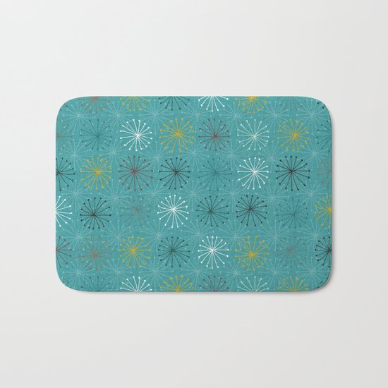 seedheads blue Bath Mat