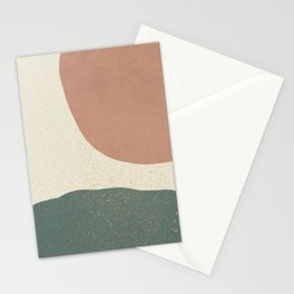Minimalist Painting - Terra Green Stationery Cards