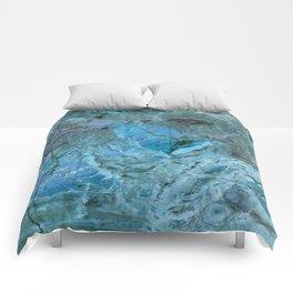 Oceania Teal & Blue Marble Comforters