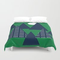 camping Duvet Covers featuring Camping by pegeo