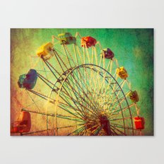 The Unbearable Elation of Summer carnival ferris wheel  Canvas Print
