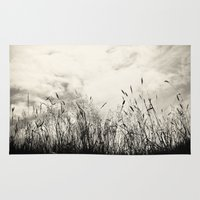 grass Area & Throw Rugs featuring Grass by Angela Fanton