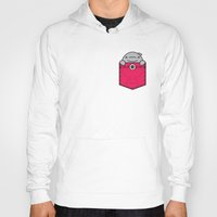 pocket Hoodies featuring Pocket Dolphin by Steven Toang