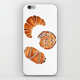 French pastries - croissant, chocolate, rasin iPhone Skin