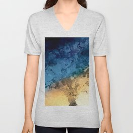 Stormy Skies Abstract Design Unisex V-Neck