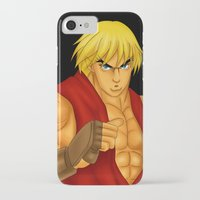 street fighter iPhone & iPod Cases featuring Ken Street Fighter by jasonarts