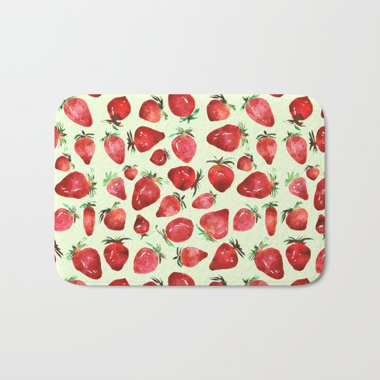 Strawberry vibes Bath Mat