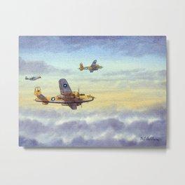 B-25 Mitchell Aircraft Metal Print