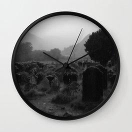 Foggy Graveyard... | Halloween Art | Wall Clock