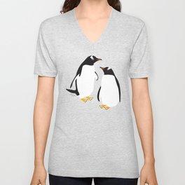 Gentoo penguin Unisex V-Neck