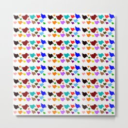 A creative colorful background with hearts Metal Print