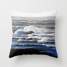 Endless Waves Throw Pillow
