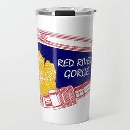 Red River Gorge Climbing Carabiner Travel Mug