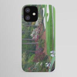 Golf's Amen Corner Augusta Georgia - Golfers on Bridge iPhone Case