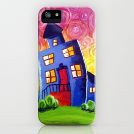 Happy House iPhone Case