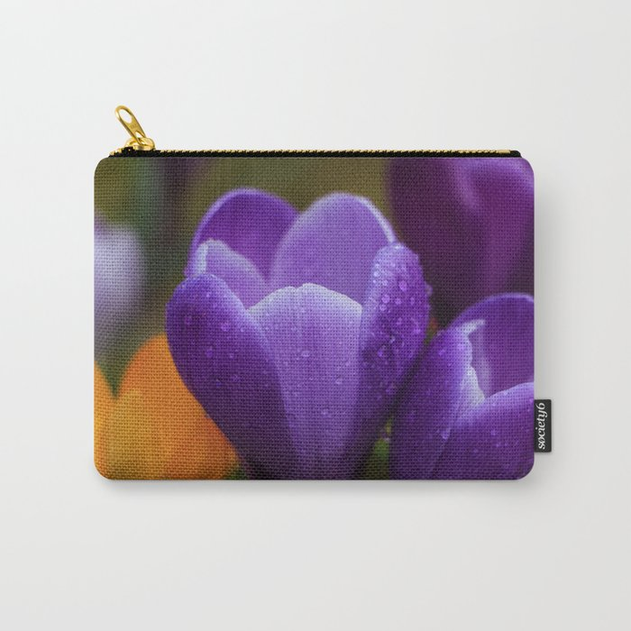 Raindrops On The Crocuses Carry-All Pouch