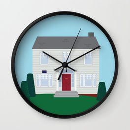 Daily Orange House Wall Clock