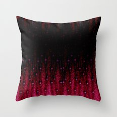 Abstract black and red pattern. Throw Pillow