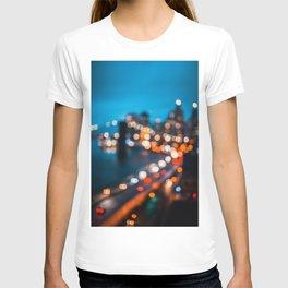 Bokeh view of Downtown Manhattan T-shirt