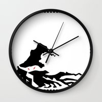 wizard Wall Clocks featuring Wizard by Flying Cat Artwork