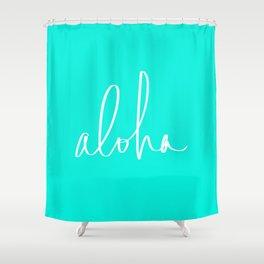 Aloha Tropical Turquoise Shower Curtain