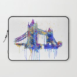 Tower Bridge watercolor Laptop Sleeve