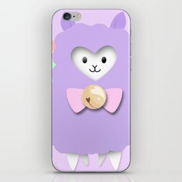 Sparkly Alpaca Rainbow iPhone Skin