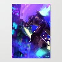kaiju Canvas Prints featuring Kaiju by fake user