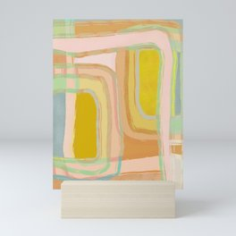 Shapes and Layers no.28 - Modern Squares and Stripes Mini Art Print