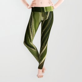 Abstract Palm Frond Leggings