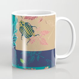 Tomatoes leaves and beetle -Mosaic Pantone palette Coffee Mug