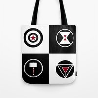 avenger Tote Bags featuring Avenger by ArikaDoe