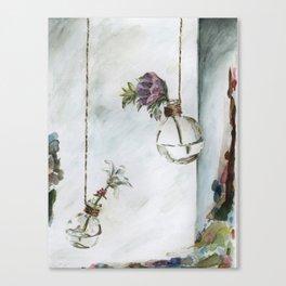 Intimacy (Oak Leaf Geranium, Saxifrage)   Canvas Print