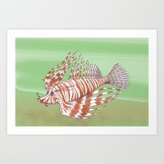 Fish Manchu Art Print