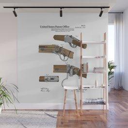 Breech Loading Rifle Patent Wall Mural